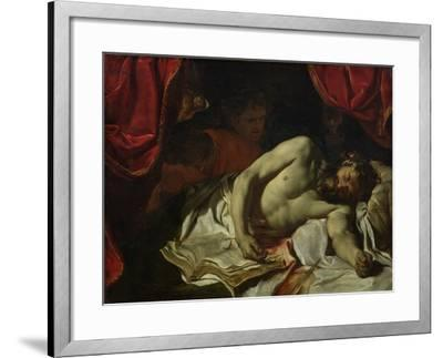 The Death of Cato of Utica-Charles Le Brun-Framed Giclee Print