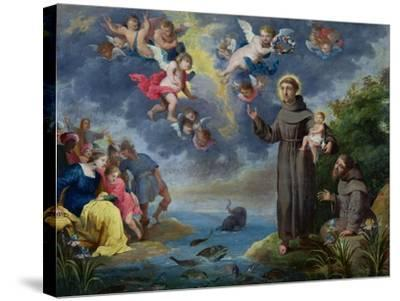 St. Anthony of Padua Preaching to the Fish-Victor Wolfvoet-Stretched Canvas Print
