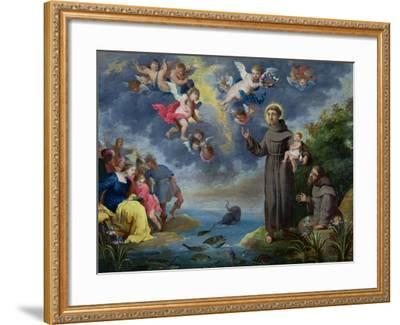 St. Anthony of Padua Preaching to the Fish-Victor Wolfvoet-Framed Giclee Print