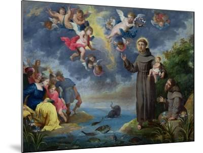 St. Anthony of Padua Preaching to the Fish-Victor Wolfvoet-Mounted Giclee Print