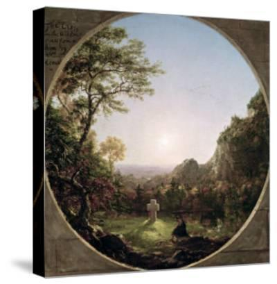 The Solitary Cross, 1845-Thomas Cole-Stretched Canvas Print