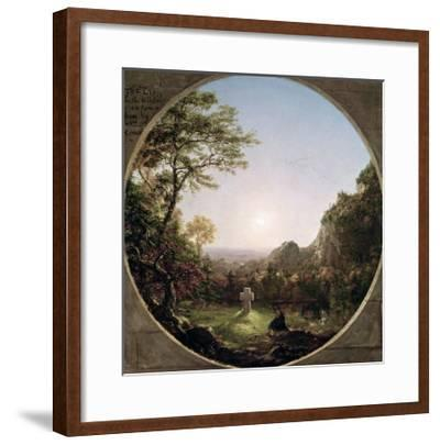 The Solitary Cross, 1845-Thomas Cole-Framed Giclee Print
