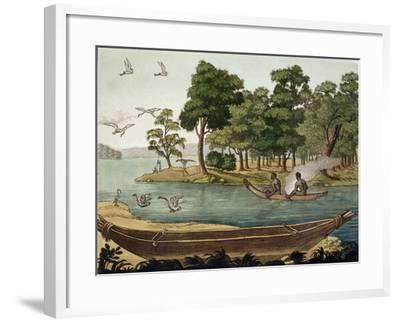 Navigation in New Holland, Engraved Fumagalli, Collection of Early 19th Century Travel Books-Sydney Parkinson-Framed Giclee Print