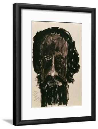 Self-Portrait-Rabindranath Tagore-Framed Giclee Print