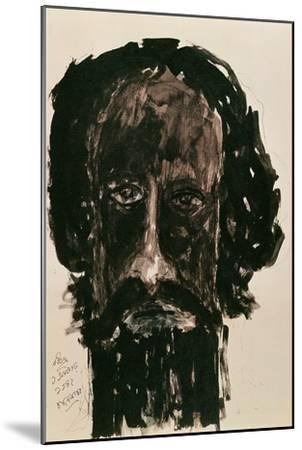 Self-Portrait-Rabindranath Tagore-Mounted Giclee Print