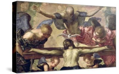The Trinity-Jacopo Robusti Tintoretto-Stretched Canvas Print