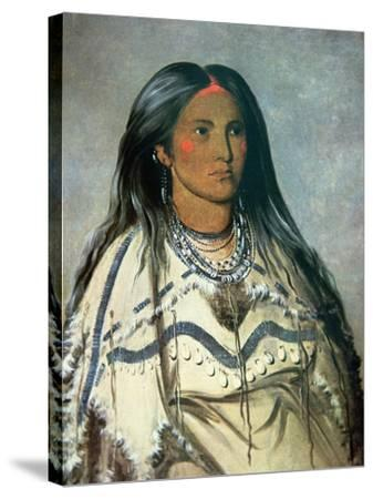 Mint, a Mandan Indian Girl, 1832-George Catlin-Stretched Canvas Print