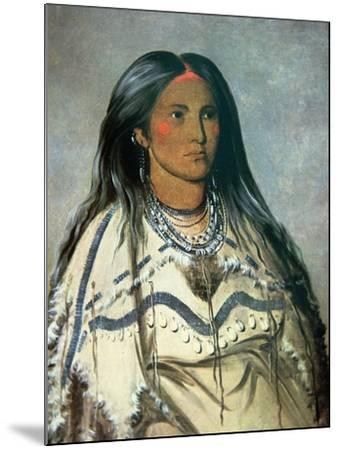 Mint, a Mandan Indian Girl, 1832-George Catlin-Mounted Giclee Print