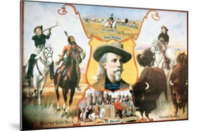 Poster For Buffalo Bill's--Mounted Giclee Print
