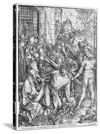 The Carrying of the Cross-Albrecht D?rer-Stretched Canvas Print