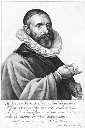 Portrait of Jan Pieterszoon Sweelinck, 1624-Jan Harmensz Muller-Stretched Canvas Print