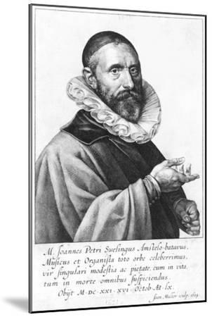 Portrait of Jan Pieterszoon Sweelinck, 1624-Jan Harmensz Muller-Mounted Giclee Print