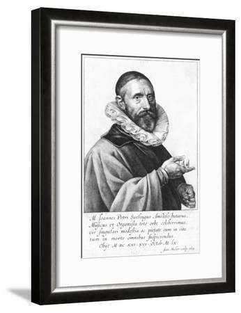 Portrait of Jan Pieterszoon Sweelinck, 1624-Jan Harmensz Muller-Framed Giclee Print