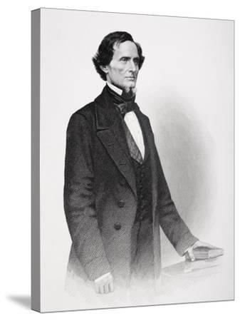 Portrait of Jefferson Davis-Mathew Brady-Stretched Canvas Print