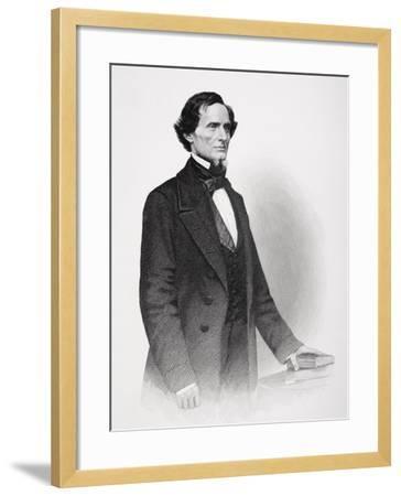 Portrait of Jefferson Davis-Mathew Brady-Framed Giclee Print