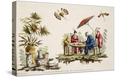 Japanese Apparel and Parasol-Jean Baptiste Pillement-Stretched Canvas Print