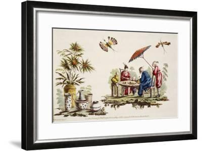 Japanese Apparel and Parasol-Jean Baptiste Pillement-Framed Giclee Print