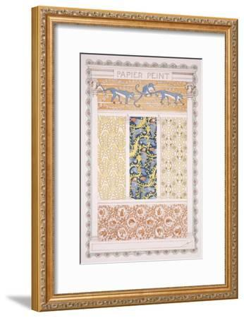 Wallpapers and Friezes, Esquisses Decoratives Binet, c.1895-Rene Binet-Framed Giclee Print