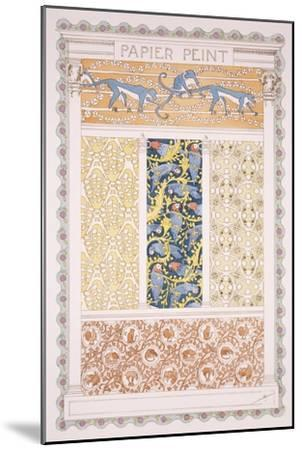 Wallpapers and Friezes, Esquisses Decoratives Binet, c.1895-Rene Binet-Mounted Giclee Print