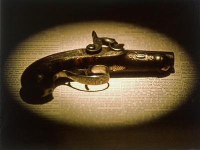 The .44 Calibre Deringer Used to Assassinate Abraham Lincoln--Framed Giclee Print