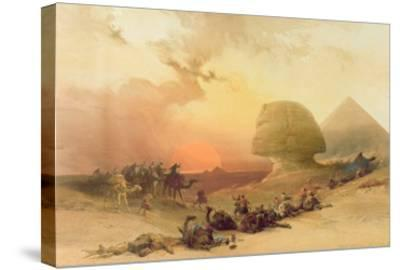 The Sphinx at Giza-David Roberts-Stretched Canvas Print