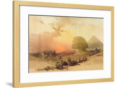 The Sphinx at Giza-David Roberts-Framed Giclee Print