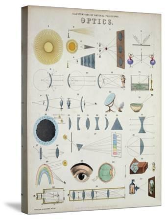 Optics, Natural Philosophy, from Popular Diagrams Published by James Reynolds, London, 1850-John P^ Ernslie-Stretched Canvas Print