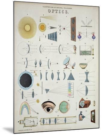 Optics, Natural Philosophy, from Popular Diagrams Published by James Reynolds, London, 1850-John P^ Ernslie-Mounted Giclee Print