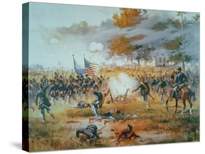The Battle of Antietam, 1862-Thure De Thulstrup-Stretched Canvas Print
