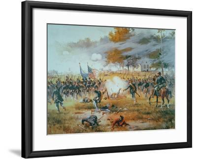 The Battle of Antietam, 1862-Thure De Thulstrup-Framed Giclee Print