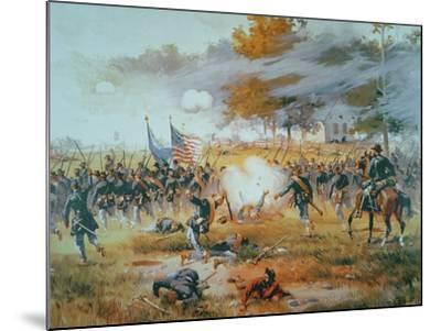 The Battle of Antietam, 1862-Thure De Thulstrup-Mounted Giclee Print