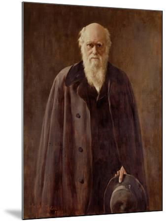 Portrait of Charles Darwin-John Collier-Mounted Giclee Print
