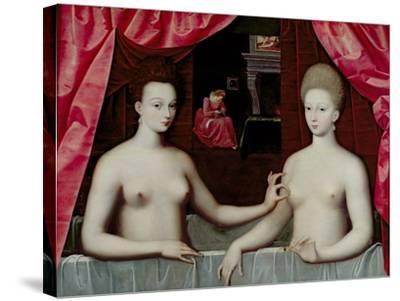 Gabrielle D'Estrees--Stretched Canvas Print