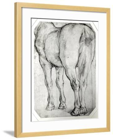Horse's Rear-Peter Paul Rubens-Framed Giclee Print