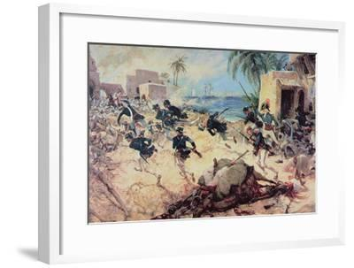 U.S. Marines Capture the Barbary Pirate Fortress at Derna, Tripoli, 27th April 1805-C^h^ Waterhouse-Framed Giclee Print