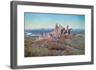 Riders of the Open Range-Charles Marion Russell-Framed Giclee Print