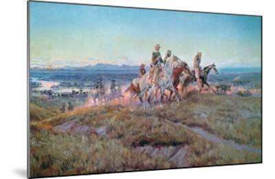 Riders of the Open Range-Charles Marion Russell-Mounted Giclee Print