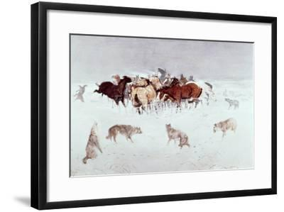 Flying Hooves-Charles Marion Russell-Framed Giclee Print