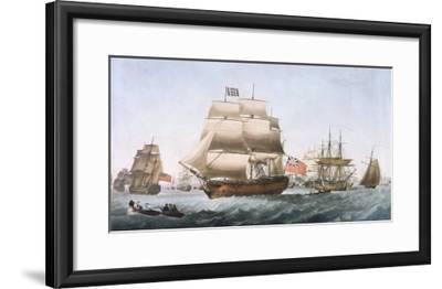 HMS Victory, 1806--Framed Giclee Print