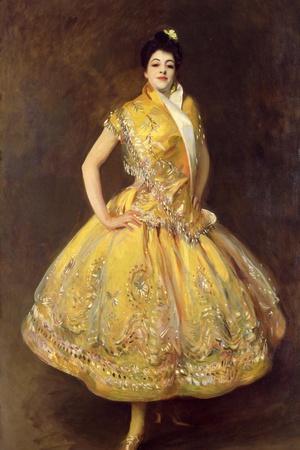 La Carmencita, 1890-John Singer Sargent-Stretched Canvas Print