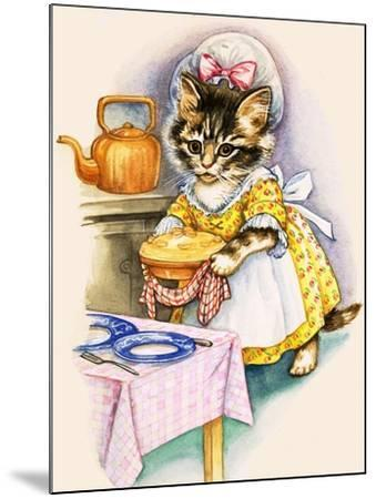 Cat Cooking a Pie--Mounted Giclee Print