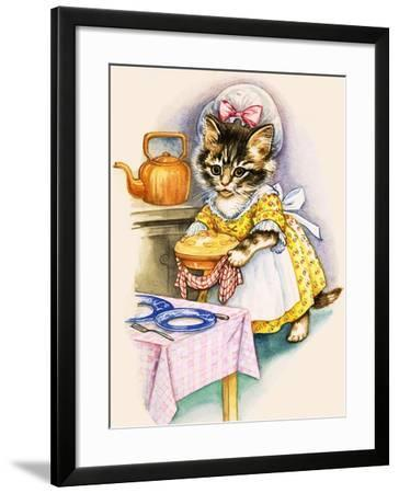 Cat Cooking a Pie--Framed Giclee Print