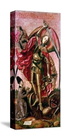 St. Michael and the Dragon- Bermejo-Stretched Canvas Print