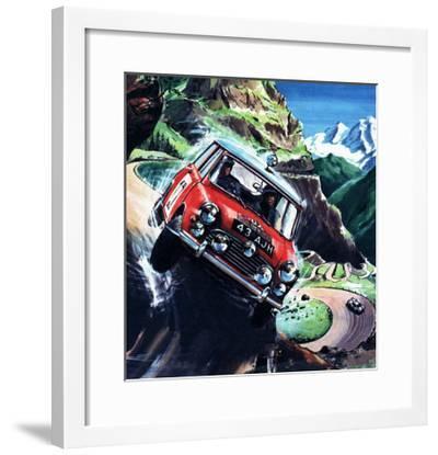 Monte Carlo Rally--Framed Giclee Print