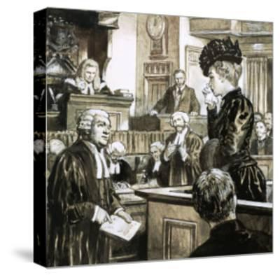 The Trial For Murder of Madeleine Smith-C.l. Doughty-Stretched Canvas Print