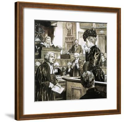 The Trial For Murder of Madeleine Smith-C.l. Doughty-Framed Giclee Print