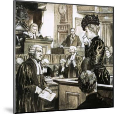 The Trial For Murder of Madeleine Smith-C.l. Doughty-Mounted Giclee Print