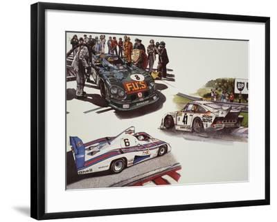 Racing Cars--Framed Giclee Print