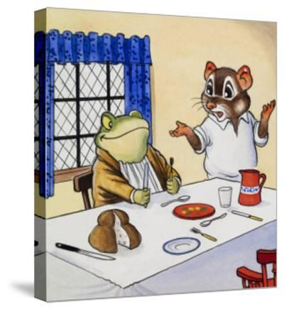 Mr Toad Waiting For His Food--Stretched Canvas Print