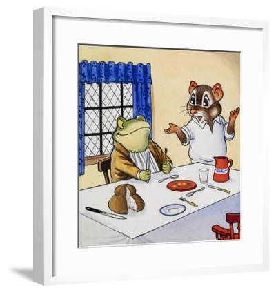 Mr Toad Waiting For His Food--Framed Giclee Print